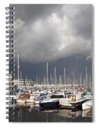 Boats In A Marina Spiral Notebook