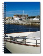 Boats In Port Spiral Notebook