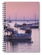 Boats In The Atlantic Ocean At Dawn Spiral Notebook