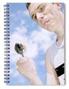 Boiled Egg Balance Spiral Notebook