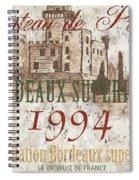 Bordeaux Blanc Label 2 Spiral Notebook