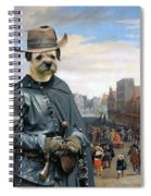Border Terrier Art Canvas Print Spiral Notebook