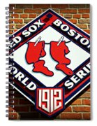 Boston Red Sox 1912 World Champions Spiral Notebook
