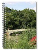 Bow Bridge Over The Lake Spiral Notebook