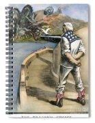 Boxer Rebellion Cartoon Spiral Notebook
