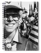 Boy Scout Veteran's Day Parade Tucson Arizona 1990 Black And White Spiral Notebook