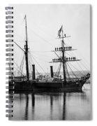 Brazilian Steamship, 1863 Spiral Notebook