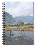 Bridge In Vang Vieng Laos Spiral Notebook