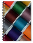 Bright Colored Spools Of Thread Spiral Notebook