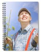 Broken Golf Club Spiral Notebook