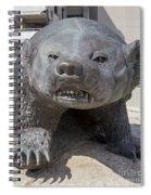 Badger Statue 4 At Uw Madison Spiral Notebook