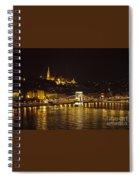 Budapest At Night Spiral Notebook