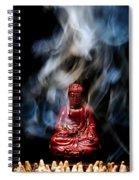 Buddha In Smoke Spiral Notebook