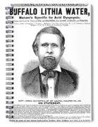 Buffalo Lithia Water, 1890 Spiral Notebook