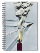 Bullet Shot Through Candle Flame Spiral Notebook