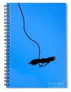 Bungee Jumper Against Blue Sky Spiral Notebook