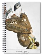 Bunker Hill: Cartoon, 1776 Spiral Notebook
