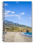 Burriana Beach In Nerja Spiral Notebook