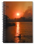 Bushfire Sunset Over The Lake Spiral Notebook
