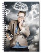 Business Man Planning Work Life Balance Strategy Spiral Notebook
