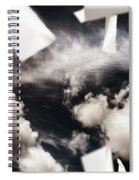 Business Papers Falling In The Sky Spiral Notebook