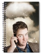 Businessman Having Bad Day. Communication Trouble Spiral Notebook