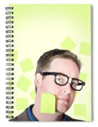 Busy Business Man With Lots Of Errands. Hard Work Spiral Notebook