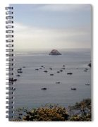 Busy Harbor Spiral Notebook
