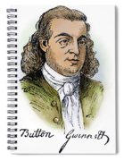 Button Gwinnett (1735-1777) Spiral Notebook