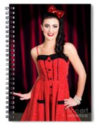 Cabaret Show Girl Performer In The Stage Spotlight Spiral Notebook