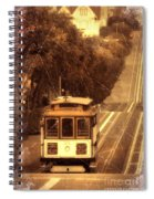 Cable Car In San Francisco Spiral Notebook