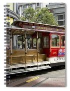 Cable Car On Turntable San Francisco Spiral Notebook