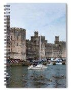 Caernarfon Castle Panorama Spiral Notebook