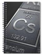 Caesium Chemical Element Spiral Notebook