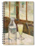 Cafe Table With Absinth  Spiral Notebook