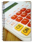 Calculator Spiral Notebook