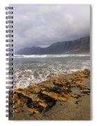 Caleta De Famara Beach On Lanzarote Spiral Notebook