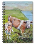 Cow And Calf Spiral Notebook