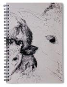 Calves, Gt Garnetts II Pen & Ink On Paper Spiral Notebook