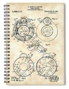 Camera Shutter Patent 1910 - Vintage Spiral Notebook