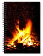 Campfire As A Symbol Of Warmth And Life On Black Spiral Notebook