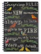 Camping Rules-d Spiral Notebook