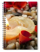 Candle And Petals Spiral Notebook