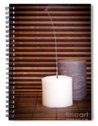 Candles And Bamboo Spiral Notebook
