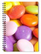 Candy Background Spiral Notebook