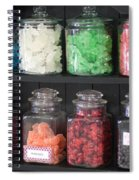 Candy In Container On Store Shelf Spiral Notebook