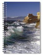 Cape Kiwanda With Breaking Waves Spiral Notebook
