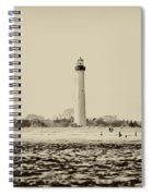 Cape May Lighthouse In Sepia Spiral Notebook