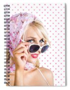 Captivating Woman Looking At Fashion Copyspace Spiral Notebook