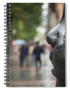 Carmen Awake Street Sculpture Spiral Notebook